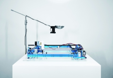 Figure 2: Drawing machine with overhead camera.